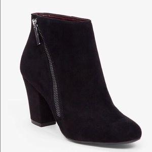 Nine West Dorien Zip Detail Black Ankle Boot